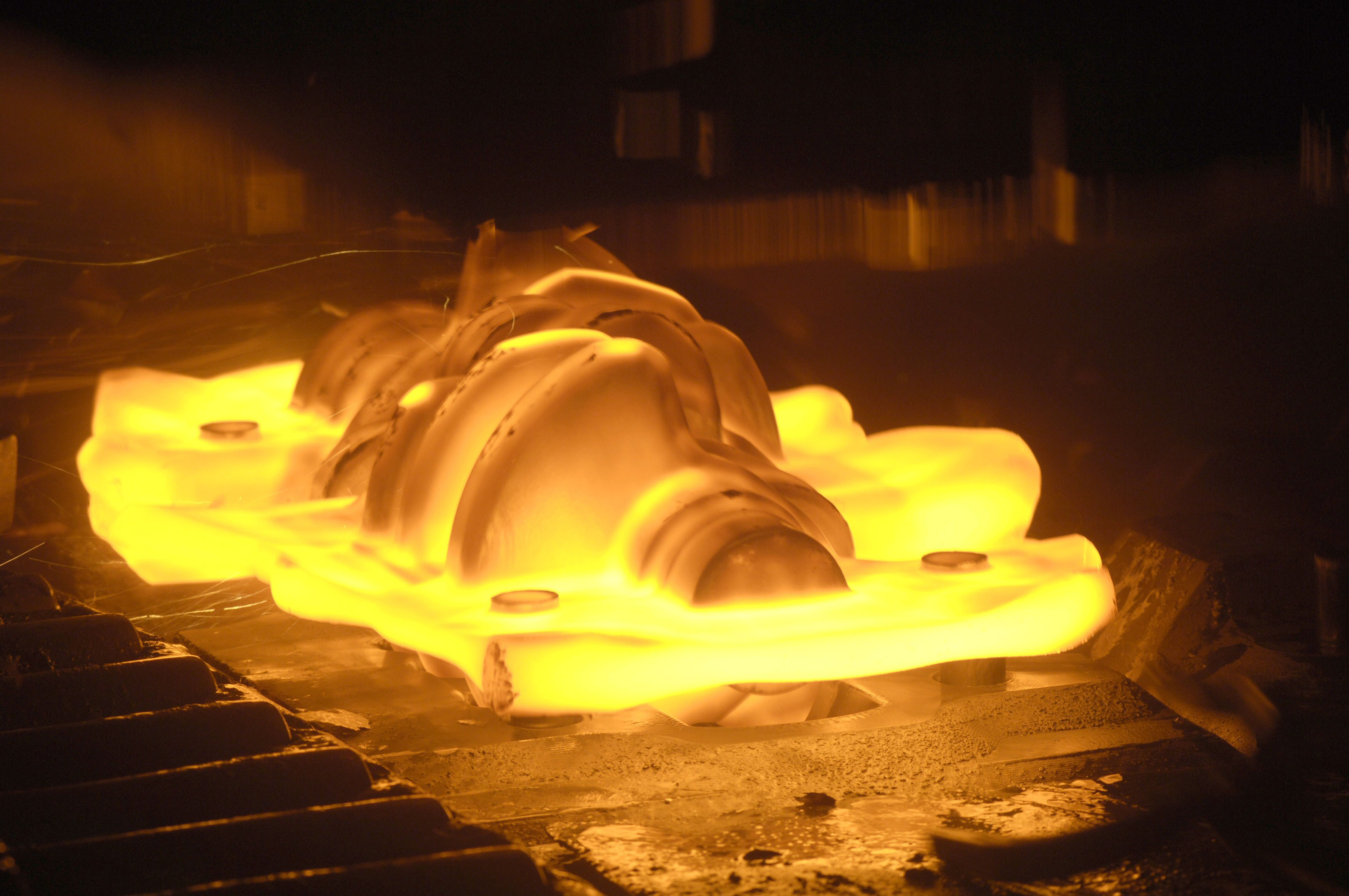 Hot forging metal 18